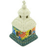 6-inch Stoneware Chapel Candle Holder - Polmedia Polish Pottery H5274G