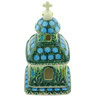 6-inch Stoneware Chapel Candle Holder - Polmedia Polish Pottery H6540G