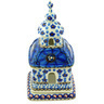 6-inch Stoneware Chapel Candle Holder - Polmedia Polish Pottery H6731G