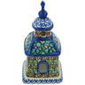 6-inch Stoneware Chapel Candle Holder - Polmedia Polish Pottery H8419G
