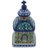 6-inch Stoneware Chapel Candle Holder - Polmedia Polish Pottery H9350G