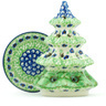 6-inch Stoneware Christmas Tree Candle Holder - Polmedia Polish Pottery H4910H