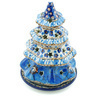 6-inch Stoneware Christmas Tree Candle Holder - Polmedia Polish Pottery H8793H