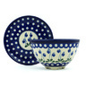 6-inch Stoneware Colander with Plate - Polmedia Polish Pottery H7957H