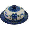 6-inch Stoneware Dish with Cover - Polmedia Polish Pottery H4104I