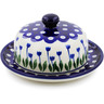 6-inch Stoneware Dish with Cover - Polmedia Polish Pottery H7337B