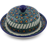 6-inch Stoneware Dish with Cover - Polmedia Polish Pottery H7593B