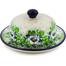 6-inch Stoneware Dish with Cover - Polmedia Polish Pottery H7869J