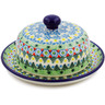 6-inch Stoneware Dish with Cover - Polmedia Polish Pottery H7871J