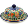 6-inch Stoneware Dish with Cover - Polmedia Polish Pottery H7881J