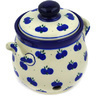 6-inch Stoneware Garlic and Onion Jar - Polmedia Polish Pottery H0529E