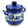 6-inch Stoneware Garlic and Onion Jar - Polmedia Polish Pottery H2640B