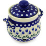 6-inch Stoneware Garlic and Onion Jar - Polmedia Polish Pottery H6325E