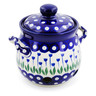 6-inch Stoneware Garlic and Onion Jar - Polmedia Polish Pottery H7718B