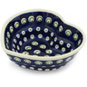 6-inch Stoneware Heart Shaped Bowl - Polmedia Polish Pottery H0188H