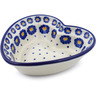 6-inch Stoneware Heart Shaped Bowl - Polmedia Polish Pottery H0453J