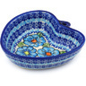 6-inch Stoneware Heart Shaped Bowl - Polmedia Polish Pottery H0722H
