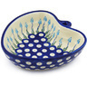 6-inch Stoneware Heart Shaped Bowl - Polmedia Polish Pottery H0728H