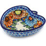 6-inch Stoneware Heart Shaped Bowl - Polmedia Polish Pottery H0736H