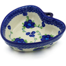 6-inch Stoneware Heart Shaped Bowl - Polmedia Polish Pottery H0876K