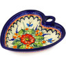 6-inch Stoneware Heart Shaped Bowl - Polmedia Polish Pottery H1094E
