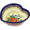 6-inch Stoneware Heart Shaped Bowl - Polmedia Polish Pottery H1409E