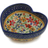 6-inch Stoneware Heart Shaped Bowl - Polmedia Polish Pottery H2514K