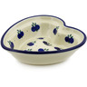 6-inch Stoneware Heart Shaped Bowl - Polmedia Polish Pottery H2675A