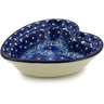 6-inch Stoneware Heart Shaped Bowl - Polmedia Polish Pottery H2679A