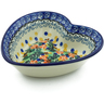 6-inch Stoneware Heart Shaped Bowl - Polmedia Polish Pottery H2684A