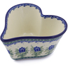 6-inch Stoneware Heart Shaped Bowl - Polmedia Polish Pottery H2788C