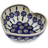6-inch Stoneware Heart Shaped Bowl - Polmedia Polish Pottery H2798K