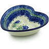 6-inch Stoneware Heart Shaped Bowl - Polmedia Polish Pottery H2801C