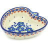 6-inch Stoneware Heart Shaped Bowl - Polmedia Polish Pottery H4068H