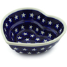 6-inch Stoneware Heart Shaped Bowl - Polmedia Polish Pottery H4343J