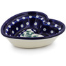 6-inch Stoneware Heart Shaped Bowl - Polmedia Polish Pottery H5773B