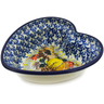 6-inch Stoneware Heart Shaped Bowl - Polmedia Polish Pottery H7285J
