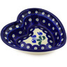 6-inch Stoneware Heart Shaped Bowl - Polmedia Polish Pottery H7662E