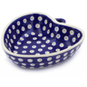 6-inch Stoneware Heart Shaped Bowl - Polmedia Polish Pottery H8102G