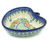 6-inch Stoneware Heart Shaped Bowl - Polmedia Polish Pottery H8394H
