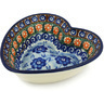 6-inch Stoneware Heart Shaped Bowl - Polmedia Polish Pottery H8636G