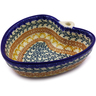 6-inch Stoneware Heart Shaped Bowl - Polmedia Polish Pottery H9083I