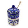 6-inch Stoneware Honey Jar with Dipper - Polmedia Polish Pottery H9910I
