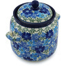 6-inch Stoneware Jar with Lid and Handles - Polmedia Polish Pottery H2176H