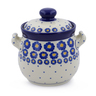 6-inch Stoneware Jar with Lid and Handles - Polmedia Polish Pottery H2851J