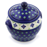 6-inch Stoneware Jar with Lid and Handles - Polmedia Polish Pottery H4452I