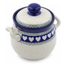 6-inch Stoneware Jar with Lid and Handles - Polmedia Polish Pottery H5843B