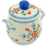 6-inch Stoneware Jar with Lid and Handles - Polmedia Polish Pottery H6528H