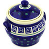 6-inch Stoneware Jar with Lid and Handles - Polmedia Polish Pottery H6920D