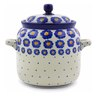 6-inch Stoneware Jar with Lid and Handles - Polmedia Polish Pottery H7236I
